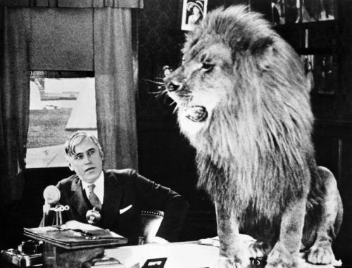 Mack Sennett y un aspirante a actor