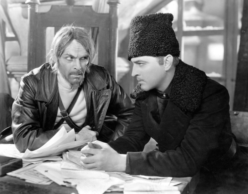 Tempest (1928) Directed by Sam Taylor Shown from left: Boris de Fast, John Barrymore